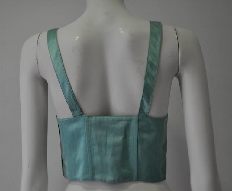 Iconic Gianni Versace Istante Mint Green Bustier 6