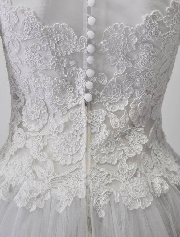 Rare and Important Pino Lancetti High Low Hand Embroidered Wedding Dress 7