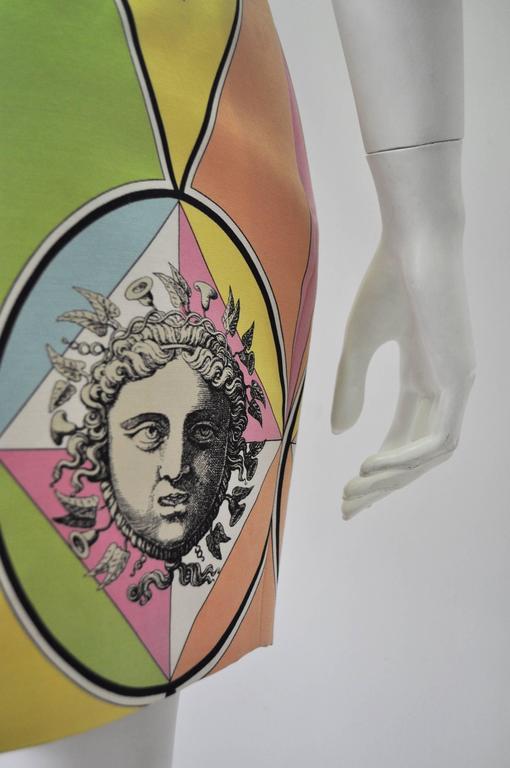 Gianni Versace Couture Harlequin Teatro Medusa Print Skirt 5