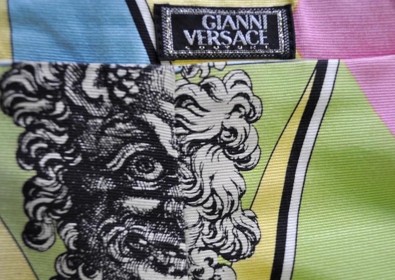 Gianni Versace Couture Harlequin Teatro Medusa Print Skirt 6