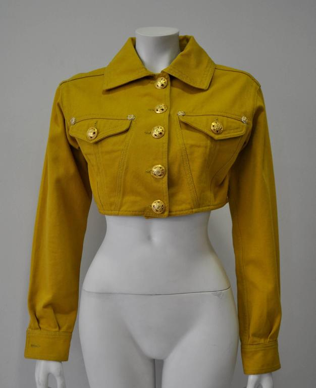 Versace Jeans Couture Gold Haute Denim Bolero Jacket 2