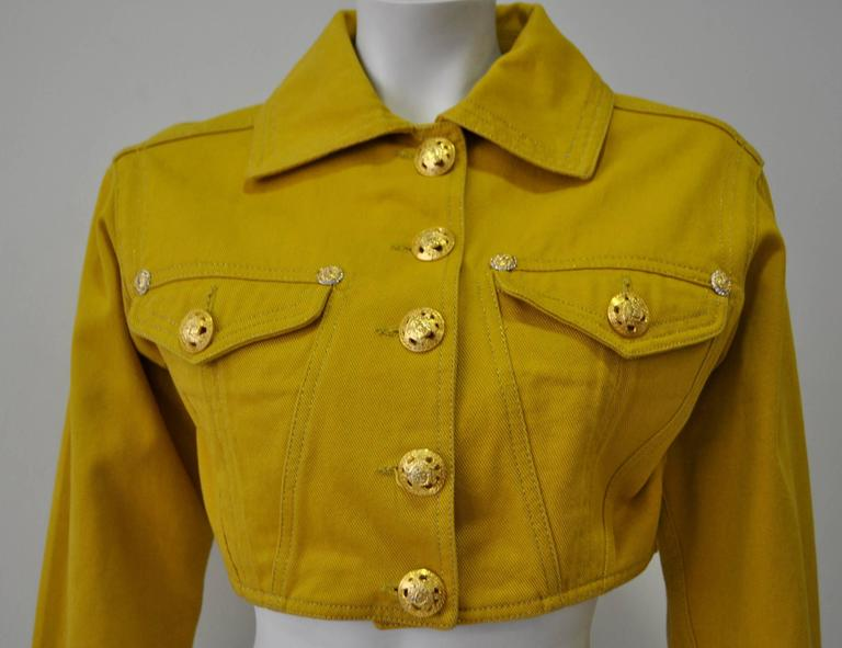 Versace Jeans Couture Gold Haute Denim Bolero Jacket 3