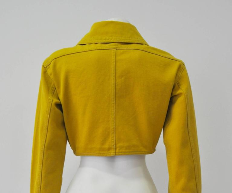 Versace Jeans Couture Gold Haute Denim Bolero Jacket 4