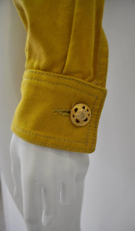 Versace Jeans Couture Gold Haute Denim Bolero Jacket 6