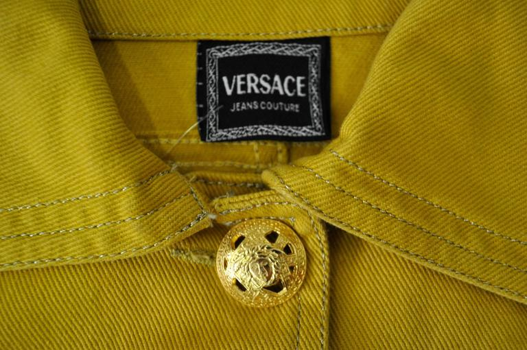 Versace Jeans Couture Gold Haute Denim Bolero Jacket 7