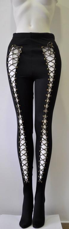 Atelier Versace Bondage Lace-Up Leggings 3