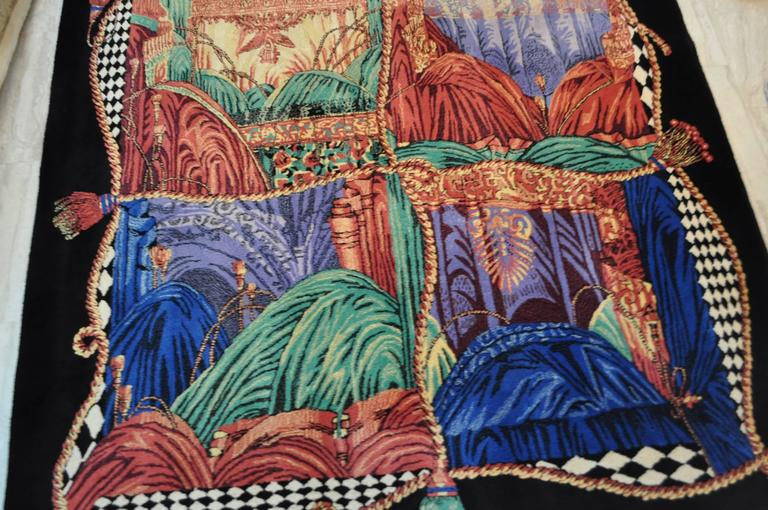 """Exceptionally Rare Ltd. Edition Atelier Versace Hand Knotted """"Teatro"""" Wool Rug 2"""