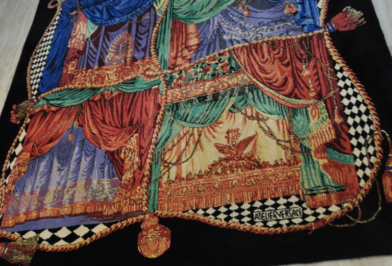 """Exceptionally Rare Ltd. Edition Atelier Versace Hand Knotted """"Teatro"""" Wool Rug 3"""