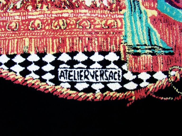 """Exceptionally Rare Ltd. Edition Atelier Versace Hand Knotted """"Teatro"""" Wool Rug 7"""
