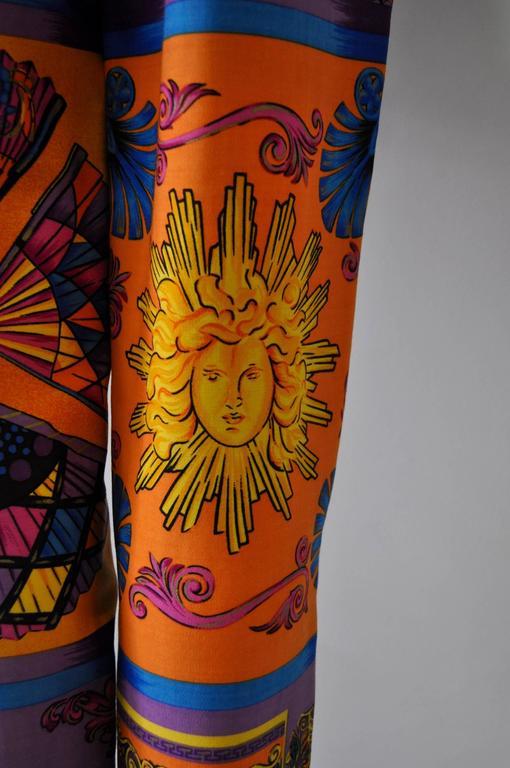 Iconoclastic Gianni Versace Medusa Pop Print High Waisted Pants For Sale 1