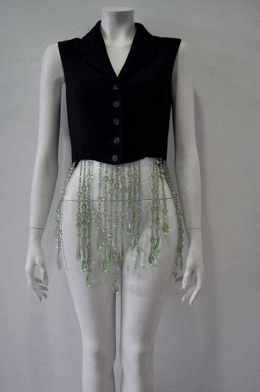 Very Unique Dolce & Gabbana for Complice Beaded Waistcoat Vest 2