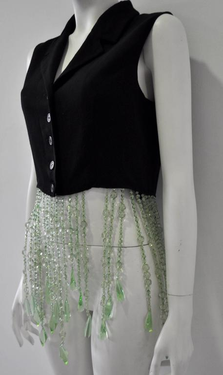 Very Unique Dolce & Gabbana for Complice Beaded Waistcoat Vest 3
