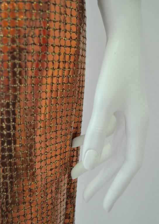 Vibrant Gianfranco Ferre Copper Sequin Pencil Skirt 4