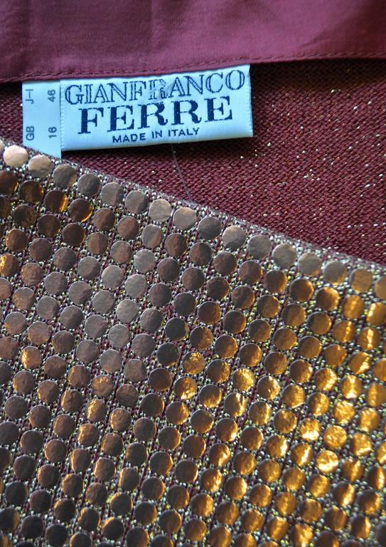 Vibrant Gianfranco Ferre Copper Sequin Pencil Skirt 5