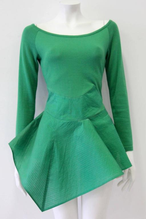 Exceptional Gianfranco Ferre Architectural Origami Peplum Tunic Top 2