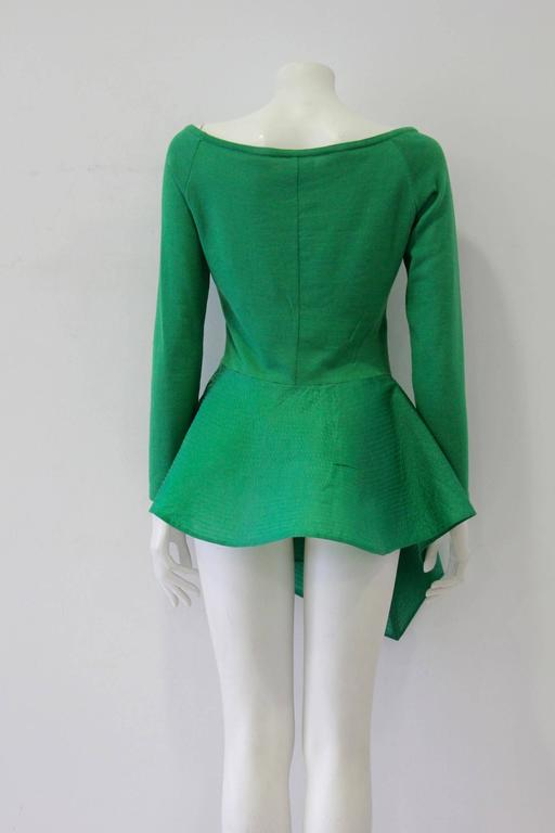 Exceptional Gianfranco Ferre Architectural Origami Peplum Tunic Top 4