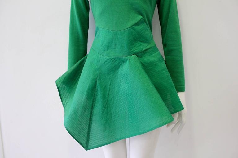 Exceptional Gianfranco Ferre Architectural Origami Peplum Tunic Top 3
