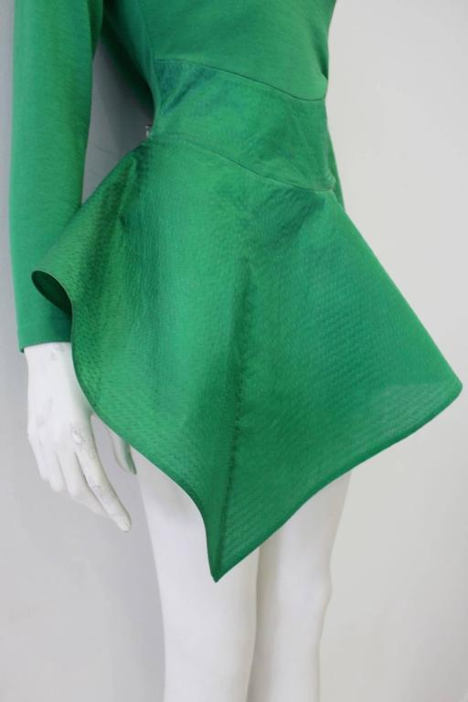 Exceptional Gianfranco Ferre Architectural Origami Peplum Tunic Top 5