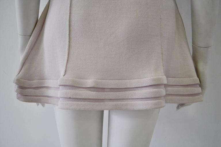 Original Claude Montana Lilac Spaced Aged Ribbed Hem Peplum Top For Sale 2