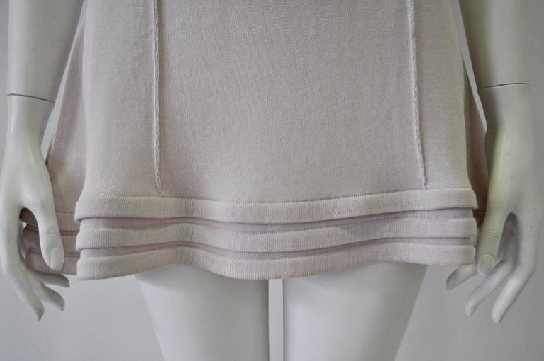 Original Claude Montana Lilac Spaced Aged Ribbed Hem Peplum Top For Sale 1