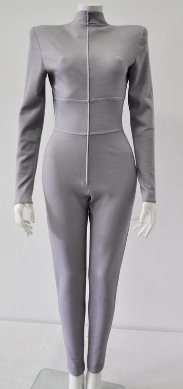 Very Rare Claude Montana Space Age Lilac Knit Jumpsuit 2