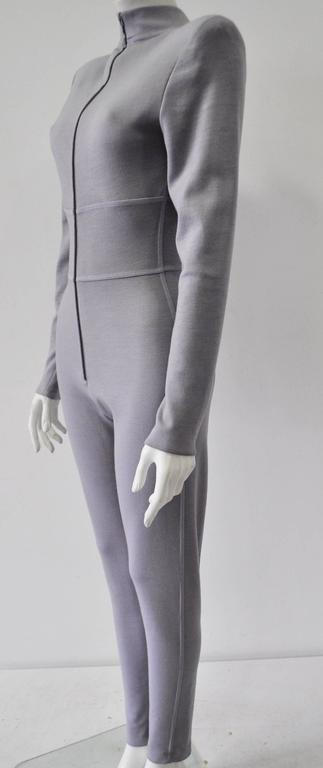Very Rare Claude Montana Space Age Lilac Knit Jumpsuit 3