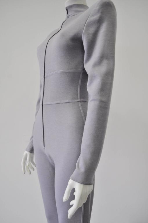 Very Rare Claude Montana Space Age Lilac Knit Jumpsuit 4