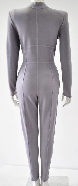 Very Rare Claude Montana Space Age Lilac Knit Jumpsuit 5