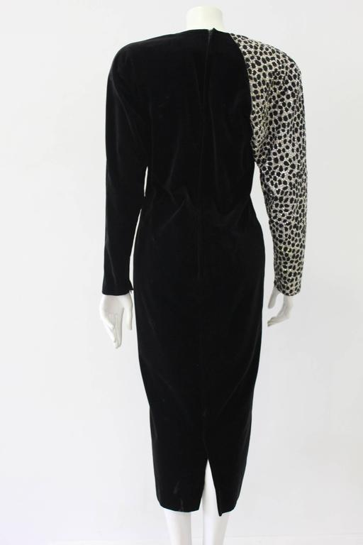 Rare Gianni Versace Velvet Beaded Gown Embroided With Swarovski Crystals 1986 2