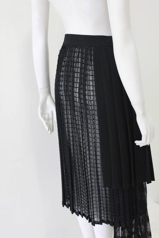 Unique Gianni Versace Couture Layered Pleated Net Skirt Spring 1994 4