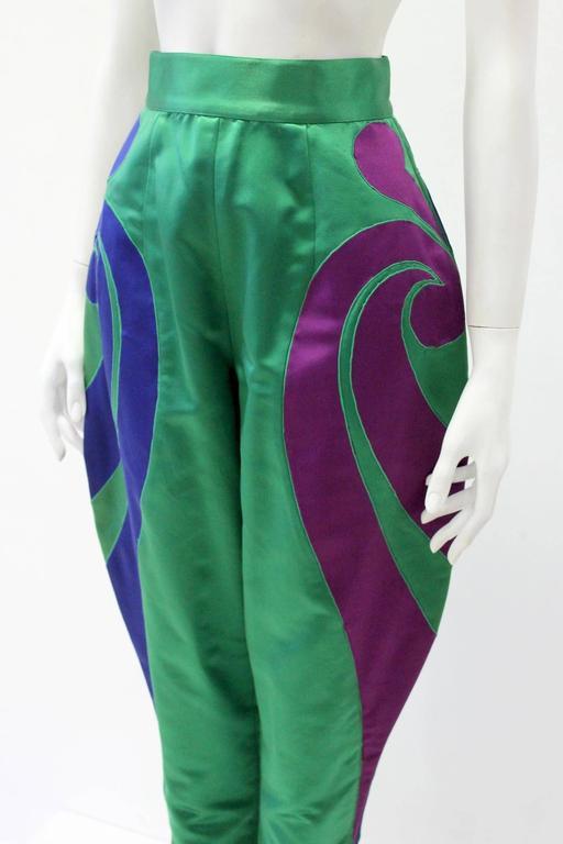 One Of A Kind Gianni Versace Silk Applique Jodhpurs Spring 1990 5