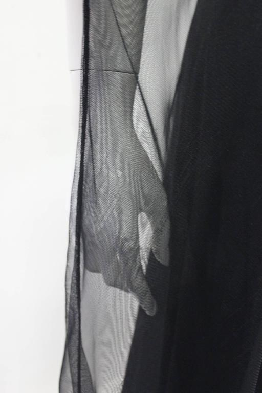 Early Tom Ford For Gucci Black Silk And Tule Maxi Dress 1998's 6