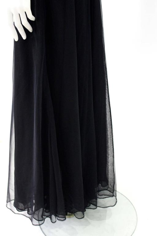 Early Tom Ford For Gucci Black Silk And Tule Maxi Dress 1998's 5