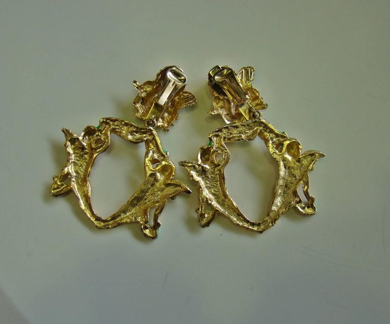 Very Rare Gianni Versace Ugo Correani Cherub Drop Earrings 1990 For Sale 1