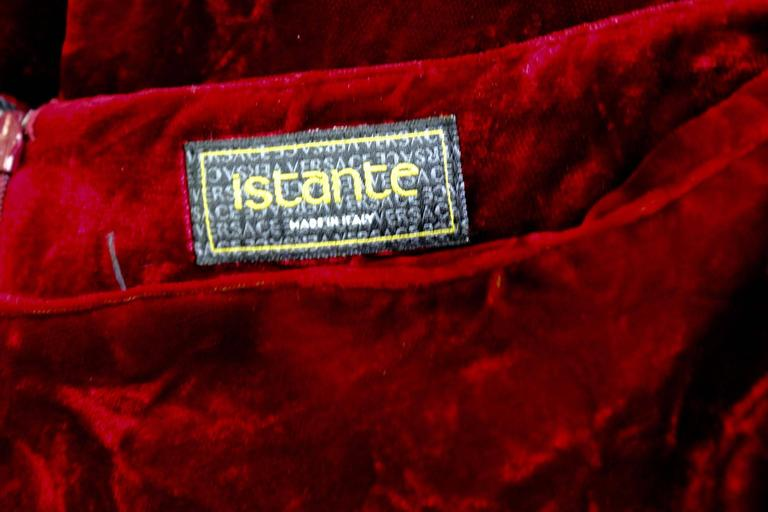 Istante By Gianni Versace Crushed Velvet Pants Fall/Winter 1997 7