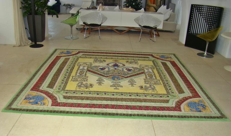 """Limited Edition """"Voyage en Chine"""" Atelier Versace Hand Knotted Wool Rug 7"""