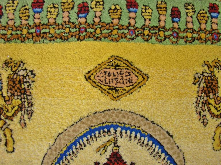 """Limited Edition """"Voyage en Chine"""" Atelier Versace Hand Knotted Wool Rug 2"""