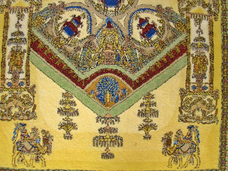 """Limited Edition """"Voyage en Chine"""" Atelier Versace Hand Knotted Wool Rug 4"""