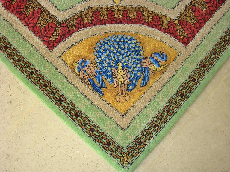 """Limited Edition """"Voyage en Chine"""" Atelier Versace Hand Knotted Wool Rug 5"""