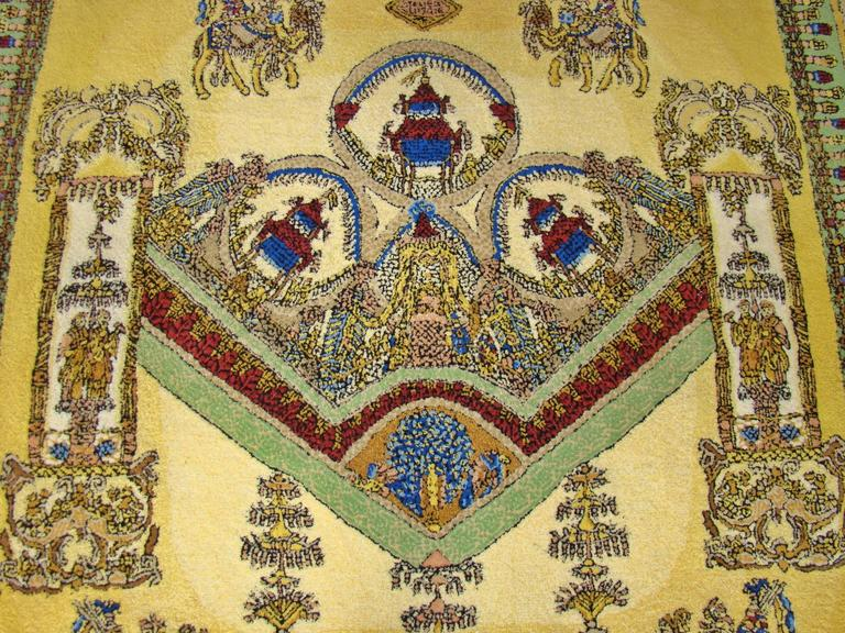 """Limited Edition """"Voyage en Chine"""" Atelier Versace Hand Knotted Wool Rug 6"""