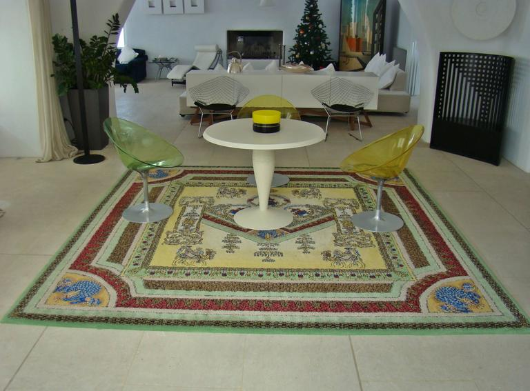 """Limited Edition """"Voyage en Chine"""" Atelier Versace Hand Knotted Wool Rug 8"""