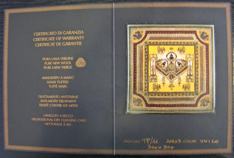 """Limited Edition """"Voyage en Chine"""" Atelier Versace Hand Knotted Wool Rug 10"""