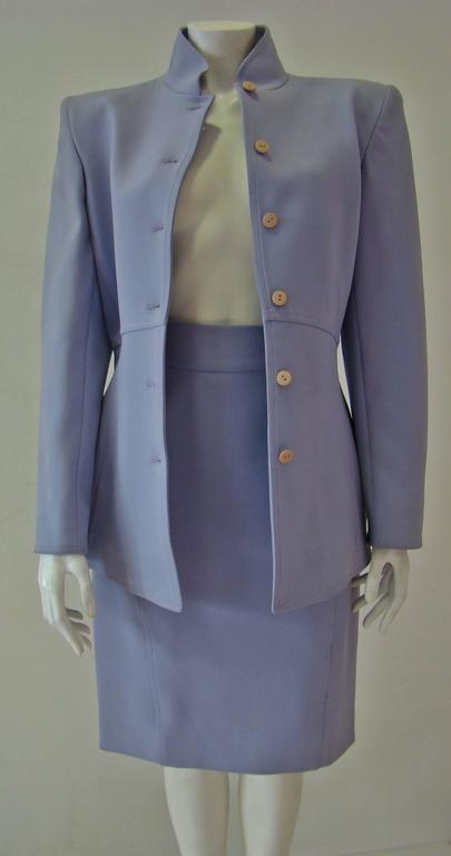 Claude Montana Lavender Skirt Suit 4