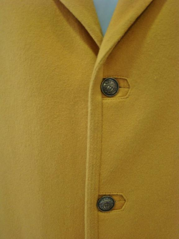 Men's Rare Gianni Versace Mustard Wool Jacket For Sale