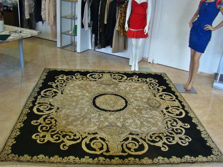 Unique Atelier Versace Hand Tufted Rug From Baroque With Medusa Design  6