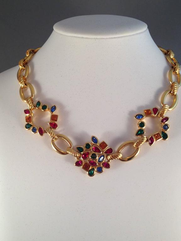 Yves Saint Laurent Ysl Vintage Goldtone Necklace With