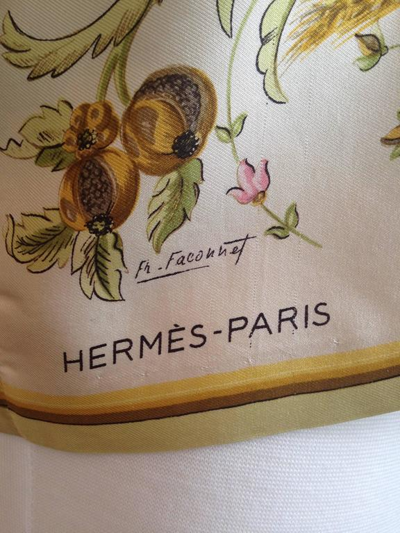 Women's Hermes Silk 'Ceres' Print Blouse Shirt 1960s For Sale
