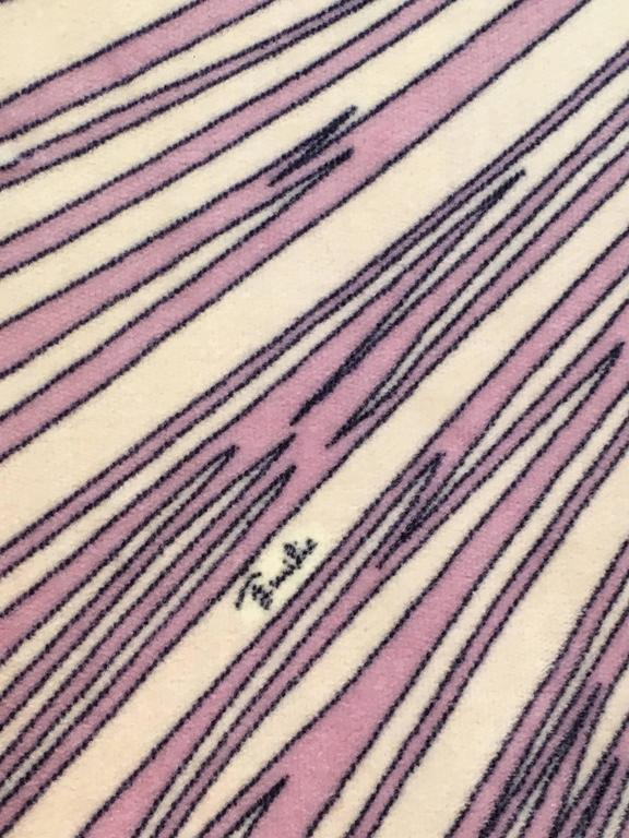 1960s Emilio Pucci Lilac Velvet Clutch For Sale 1