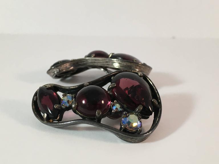 Women's 1940s Schiaparelli Biomorphic Shaped Earrings For Sale
