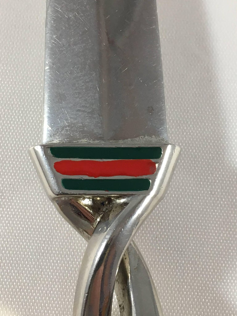 gucci letter opener with green and red stripes at 1stdibs